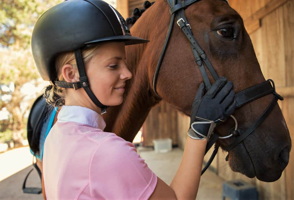 what do you need for horse riding gloves helmet